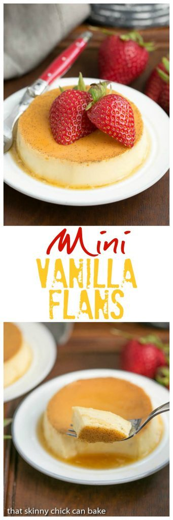 Mini Flans | The classic Spanish custard and caramel dessert in individual servings!