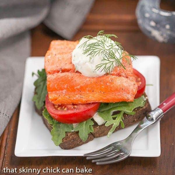 Open-Faced Salmon Sandwiches with Herb Cucumber Relish # ...