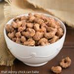 Spicy Sugared Cashews - Sweet, crunchy with a touch of heat!