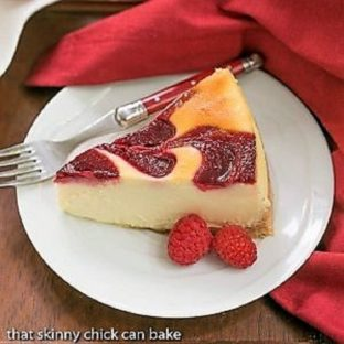 White Chocolate Raspberry Swirl Cheesecake featured image