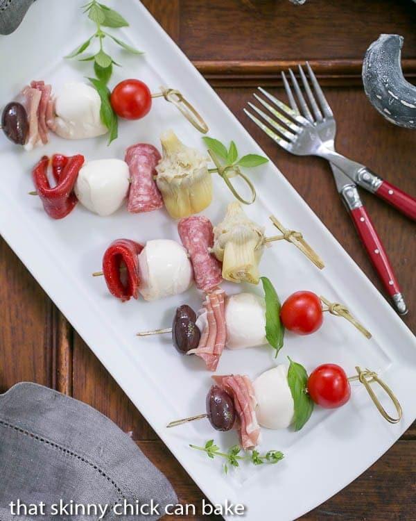 Antipasto Skewers | An easy twist on the Italian appetizer