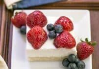 Berry Cheesecake Flag Dessert #SundaySupper