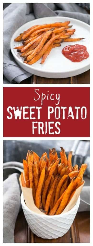 Spicy Sweet Potato Fries | Kicked up with paprika, cumin and cayenne pepper!