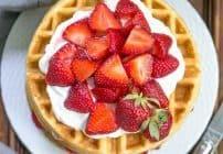 Strawberry Waffle Cake #SundaySupper
