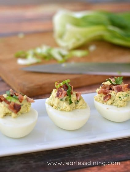 Bok Choy Deviled Eggs | Picnic Recipes