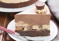 Peanut Butter Chocolate Mousse Cake #TwoSweetiePies