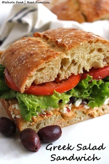 Greek Salad Sandwich