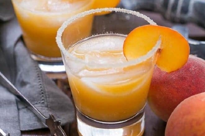 Fresh Peach Margaritas featured image