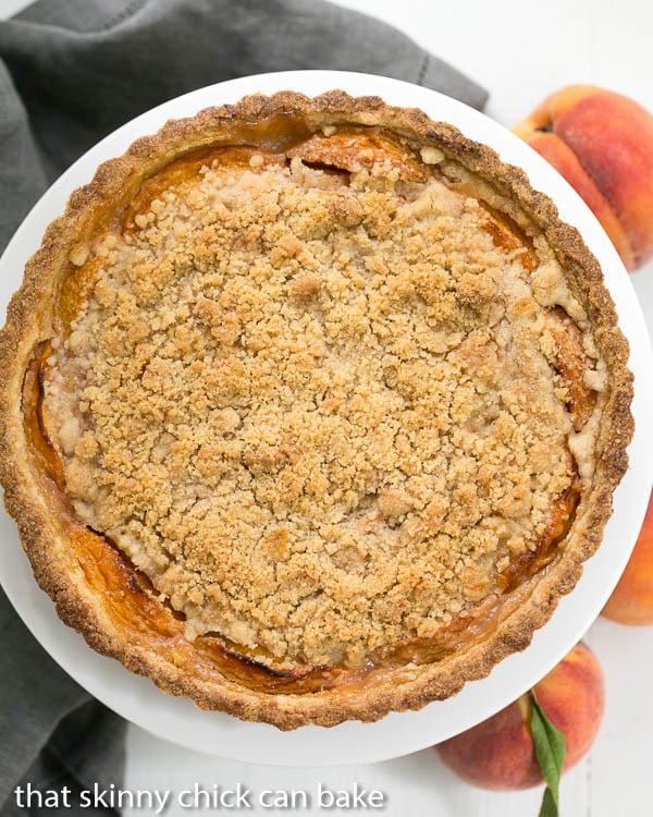 StreuselTopped Peach Tart | A sweet crust, fresh peaches and buttery streusel make for a fabulous summer dessert!