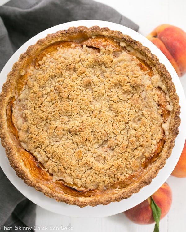 Streusel Topped Peach Tart | A sweet crust, fresh peaches and buttery streusel make for a fabulous summer dessert!