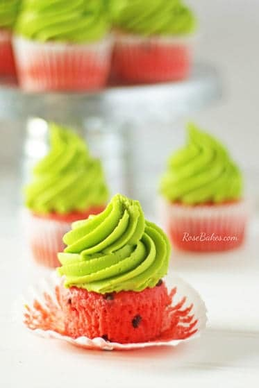 Watermelon Cupcakes | Picnic Recipes