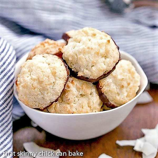Coconut Macaroons in a white bowl