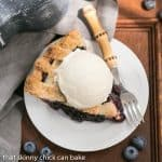 Freeze and Bake Blueberry Pie #Sunday Supper