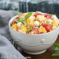 Peach Quinoa Caprese Salad | A tasty twist on the classic Italian salad with peaches and quinoa