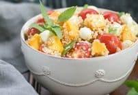Peach Quinoa Caprese Salad