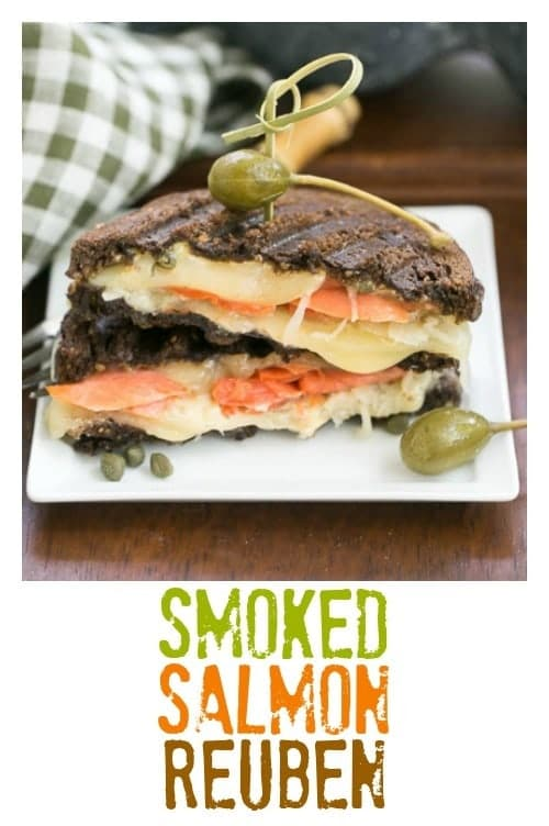 Smoked Salmon Reuben Sandwich | A fabulous seafood twist on the classic