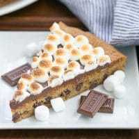 S'mores Cookie Cake - A tasty riff on the classic campfire treat!