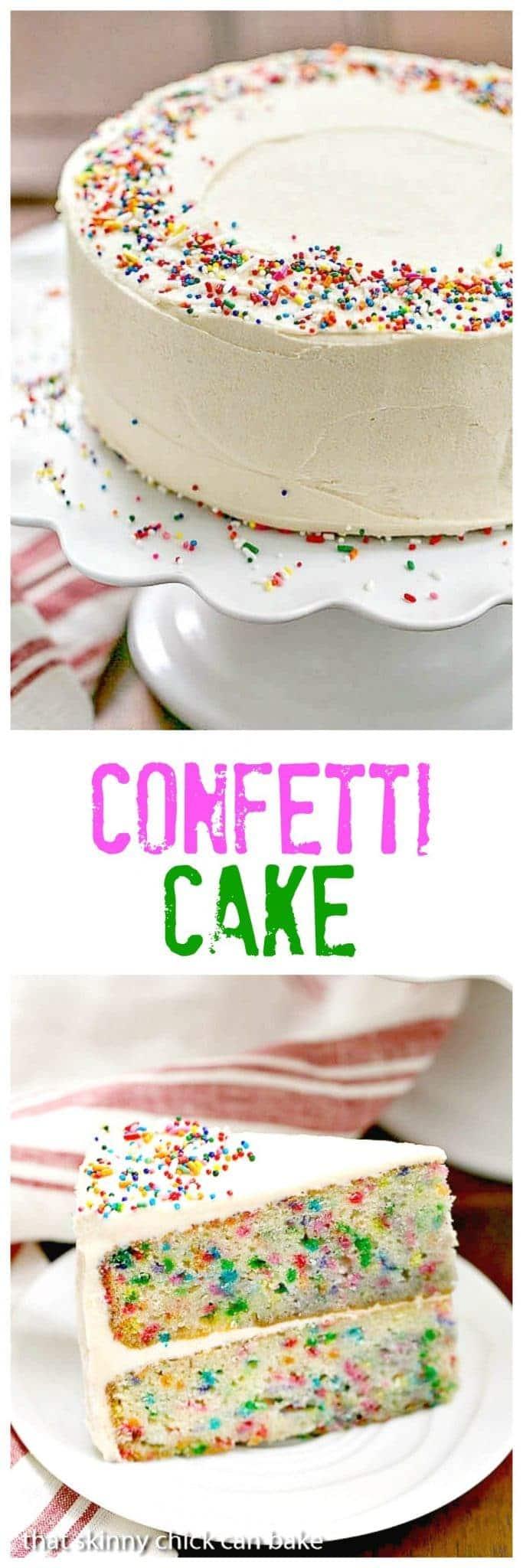 Extra Moist Confetti Cake