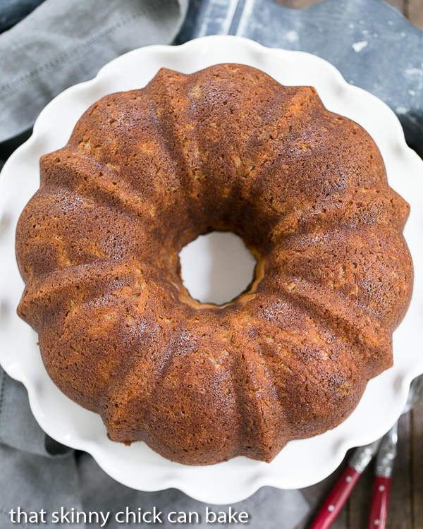Cream Cheese Filled Apple Bundt Cake - That Skinny Chick Can Bake