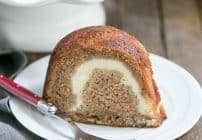 Apple Bundt Cake with a surprise cream cheese filling