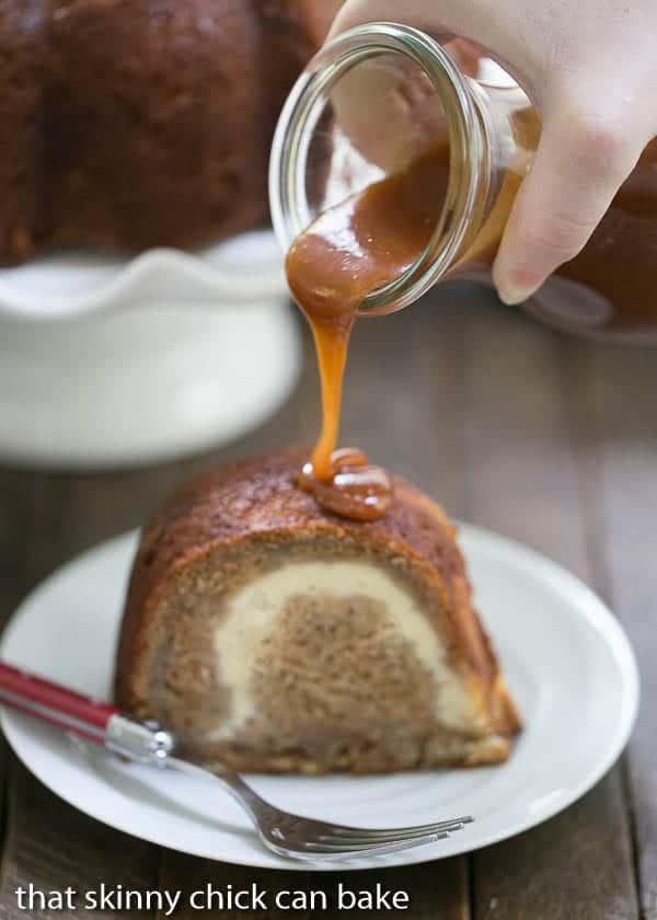 Cream Cheese Filled Apple Bundt Cake That Skinny Chick
