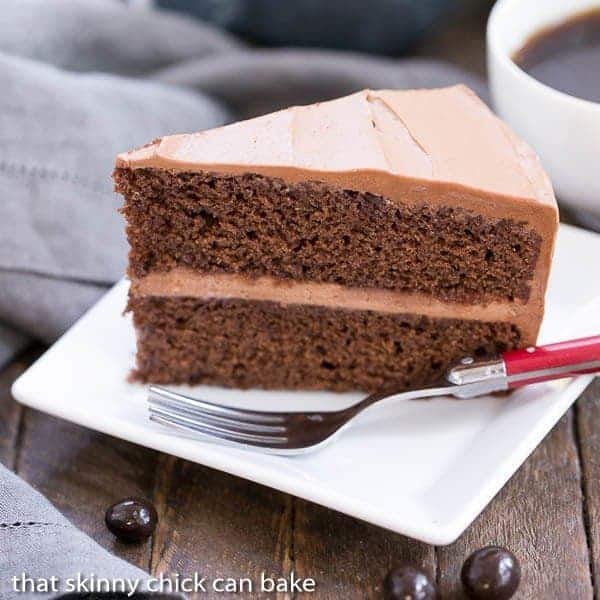 Mocha Layer Cake | Filled with a Kahula Milk Chocolate Mousse and iced ...