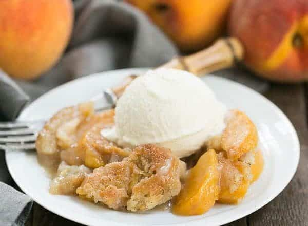 Peach Pudding | A self saucing peach dessert for a change from crisps and cobblers!
