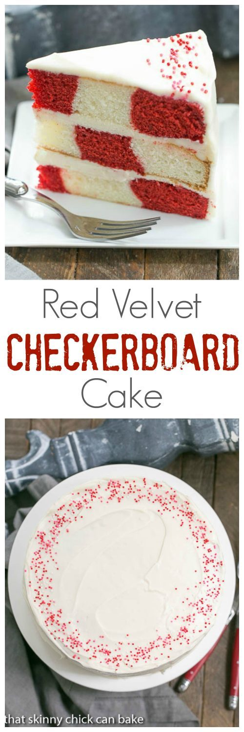 Red Velvet Checkerboard Cake | A showstopper of a celebratory cake!