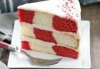 Red Velvet Checkerboard Cake | A showstopper of a celebratory cake!
