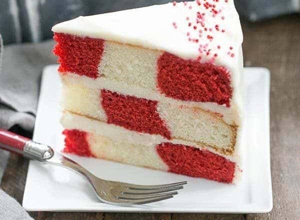 Red Velvet Checkerboard Cake   A showstopper of a celebratory cake!