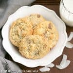White Chocolate Toffee Chunk Cookies #SundaySupper