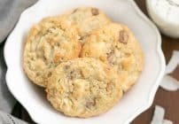 White Chocolate Toffee Chunk Cookies These oatmeal cookies are chock full of deliciousness!