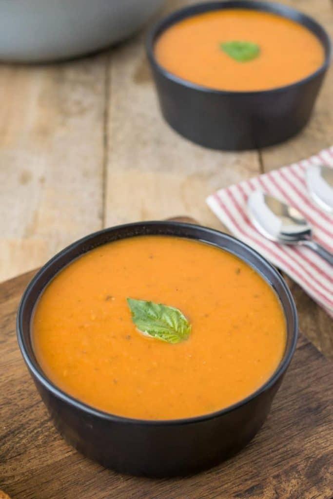 30 Minute Tomato Basil Soup