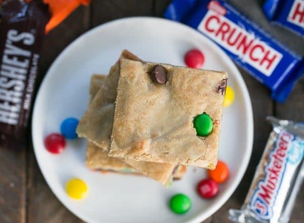 Candy Bar Blondies | The perfect way to use up any leftover candy!