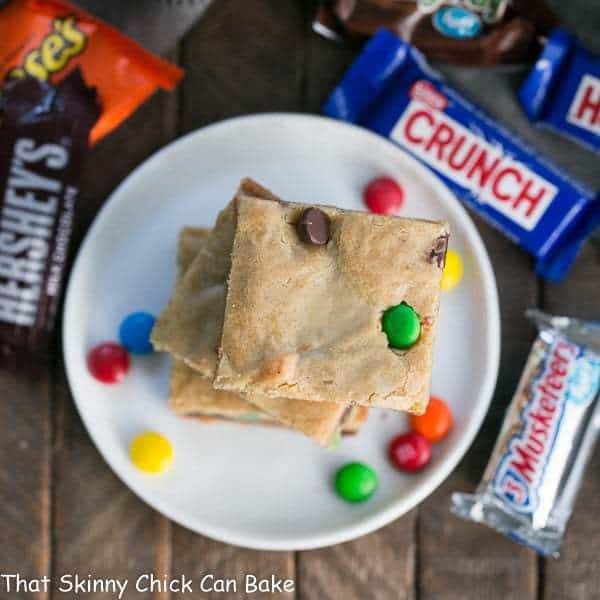 Candy Bar Blondies   The perfect way to use up any leftover candy!