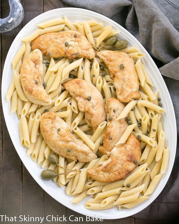 Chicken Piccata Pasta   A delicious and easy twist on a classic Italian recipe!