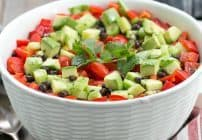 Tex-Mex Fiesta Salad w/ Honey Lime Dressing
