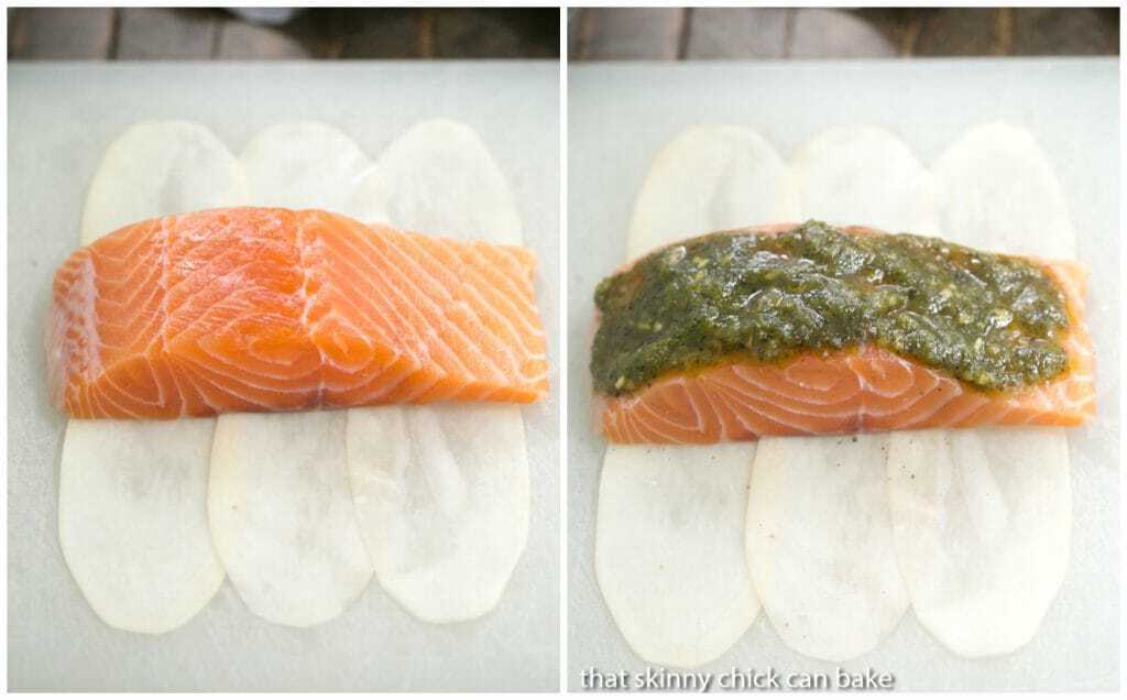 Potato Shingled Salmon | An elegant 4 ingredient recipe!