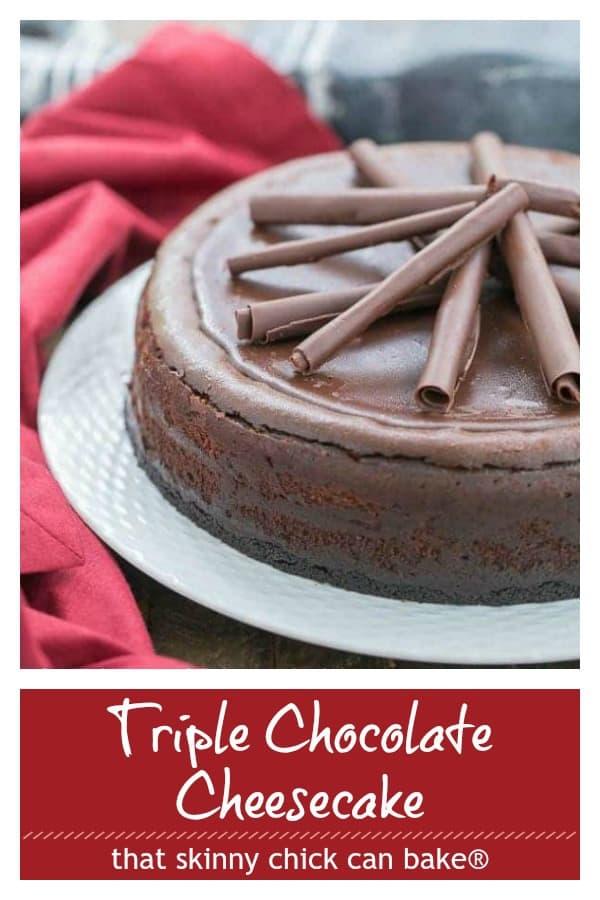 Triple Chocolate Cheesecake Pinterest collage