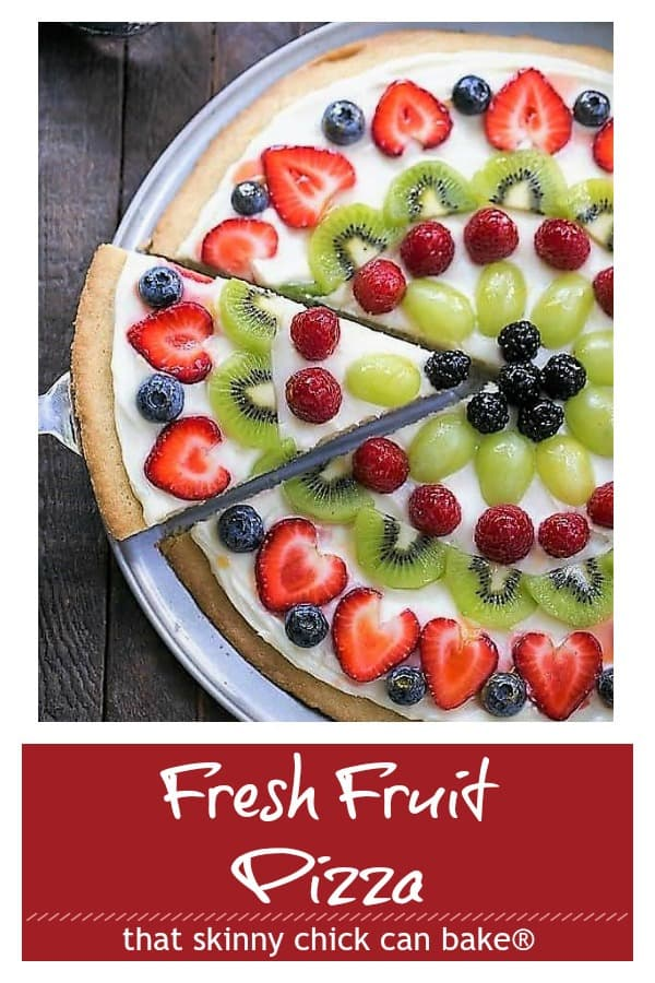 Fresh Fruit Pizza Pinterest collage
