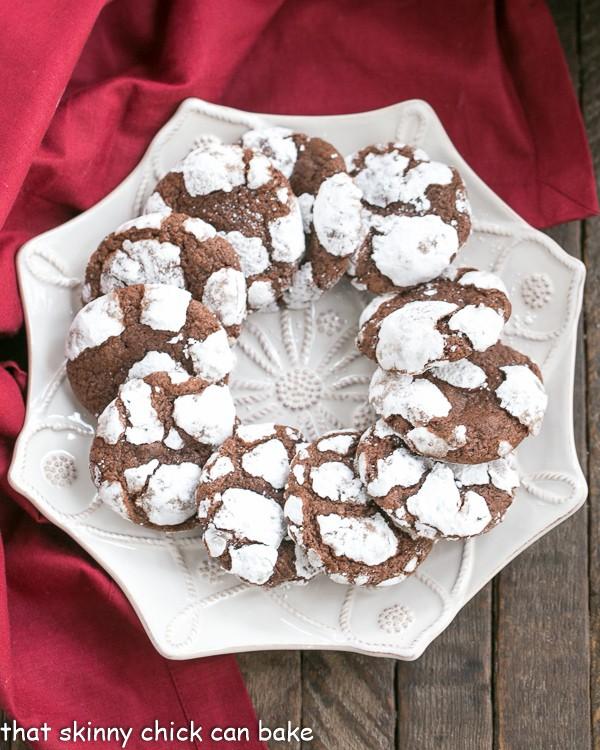 Chocolate Crackle Cookies | Fudgy cookies dusted in powdered sugar!