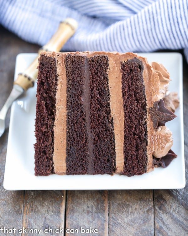 Chocolate Fudge Layer Cake That Skinny Chick Can Bake