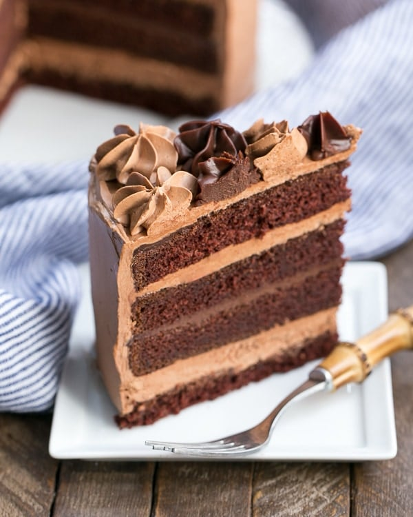 Chocolate Fudge Layer Cake - 6 layers of pure chocolate deliciousness!