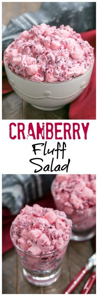 Cranberry Fluff Salad | A simple version of this Thanksgiving classic!