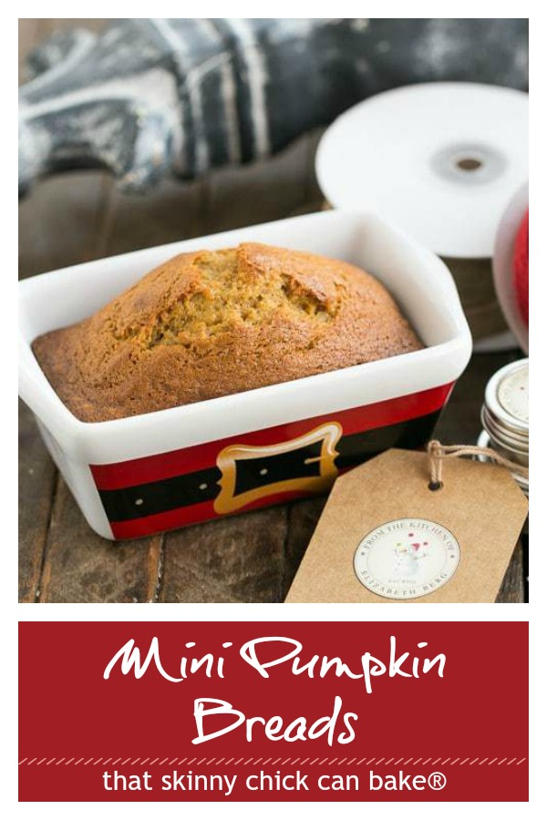 Mini Pumpkin Breads photo and text collage