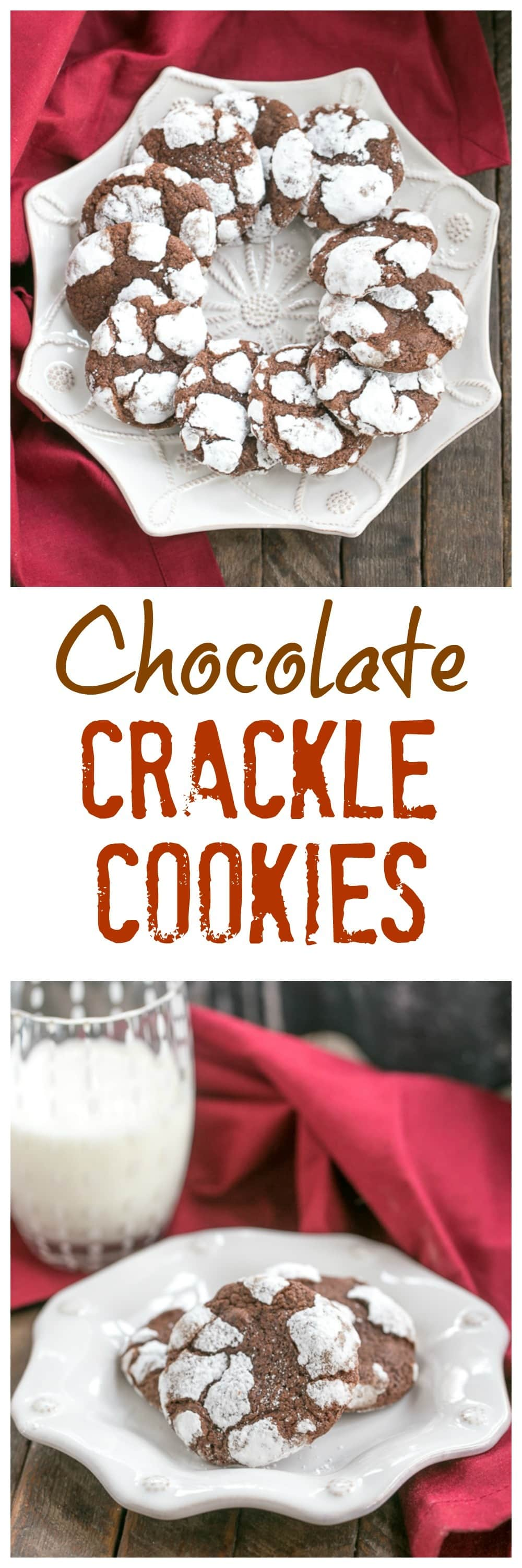 Chocolate Crackle Cookies #Giveaway - That Skinny Chick Can Bake