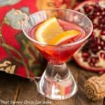 Pomegranate Champagne Cocktail #Progressive Eats