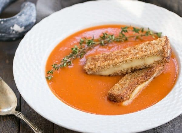 Thyme Kissed Tomato Soup | A luscious classic made without cream!