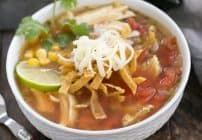 Leftover Turkey Tortilla Soup #SundaySupper