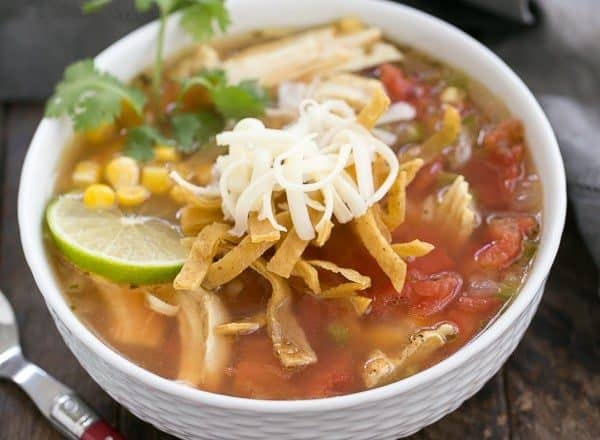 Leftover Turkey Tortilla Soup | A hearty soup that utilizes leftover turkey!